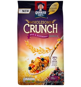 Picture of Quaker Wholesome Crunch Granola with Goji & Blueberry 550g
