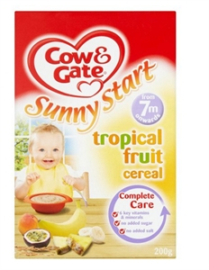 Picture of Cow And Gate Tropical Fruit Cereal 200G 7 Month Plus