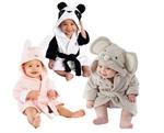 Picture of boy girl Animal Baby bathrobe